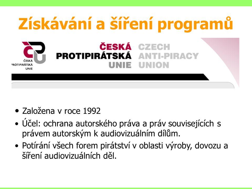 Založena v roce 1992 Účel: ochrana autorského práva a práv souvisejících s právem autorským k audiovizuálním dílům. Potírání všech forem pirátství v o