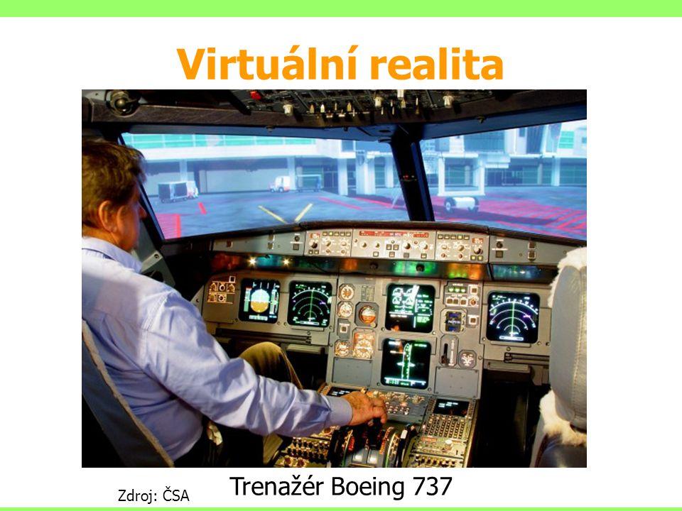 Zdroj: ČSA Trenažér ATR Virtuální realita Trenažér Boeing 737