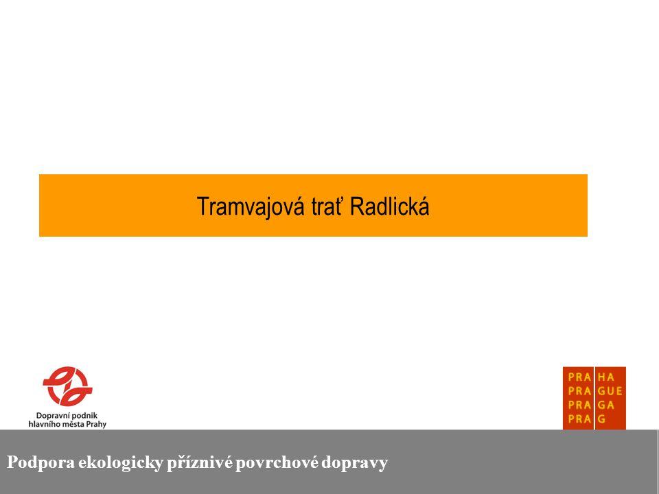 Podpora ekologicky příznivé povrchové dopravy Rozvoj kolejové dopravy v Pražské integrované dopravě Je v souladu s cíli Programového prohlášení RHMP a dalšími strategickými dokumenty města Je prioritou nového územního generelu Prahy Je součástí strategických priorit Dopravního podniku hlavního města Prahy