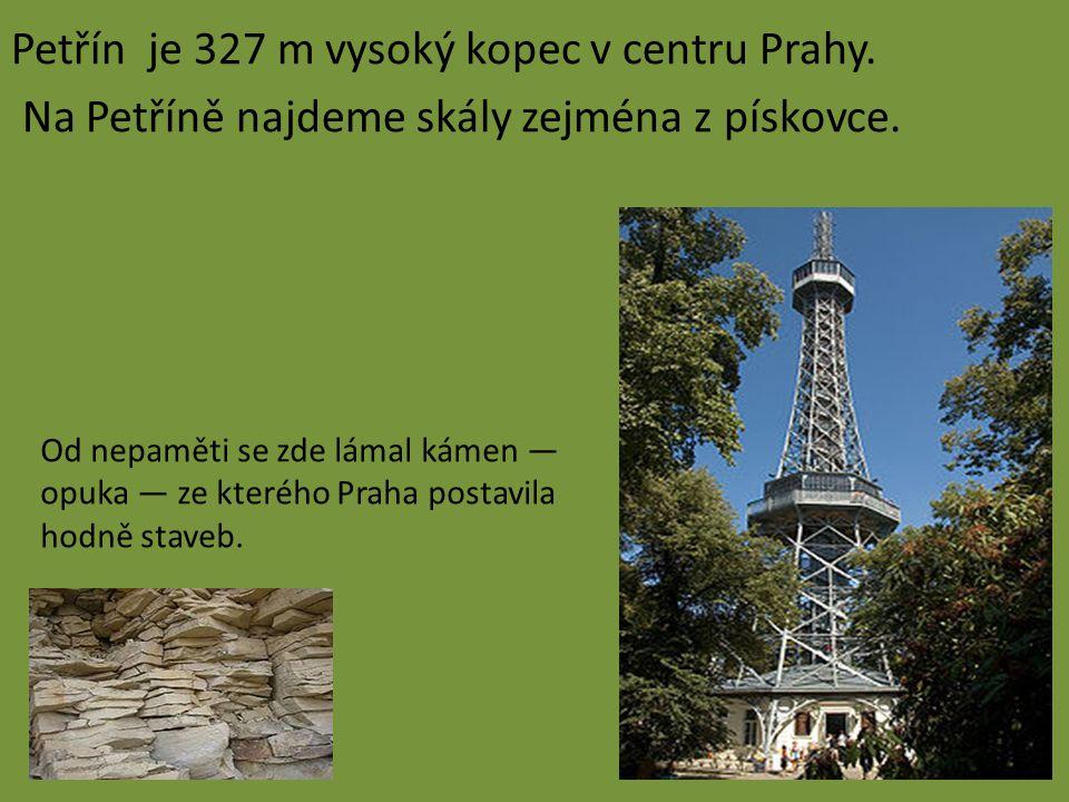 Petřín je 327 m vysoký kopec v centru Prahy. Na Petříně najdeme skály zejména z pískovce. Od nepaměti se zde lámal kámen — opuka — ze kterého Praha po