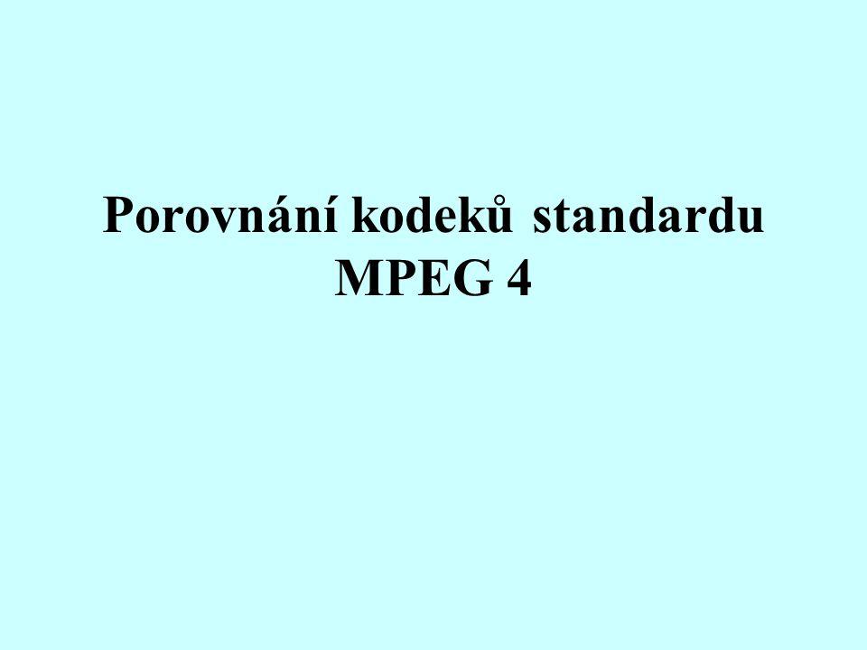 Porovnání kodeků standardu MPEG 4