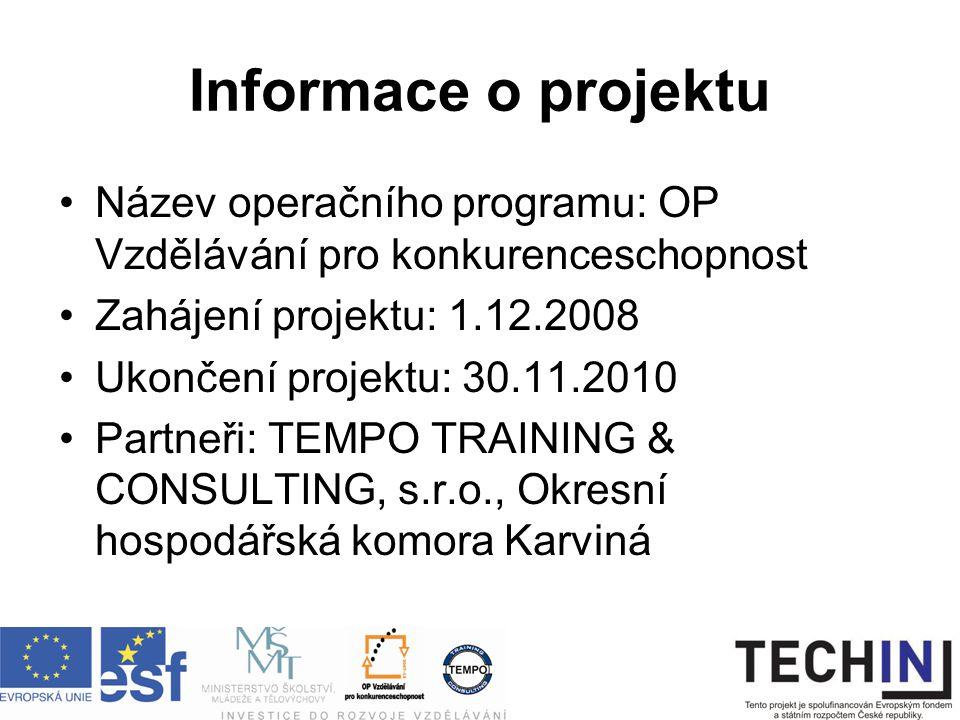Kontakty Ing.Lucie Waldrová – projektová manažerka TEMPO: waldrova@tempo.cz, tel.: 596740293 Ing.