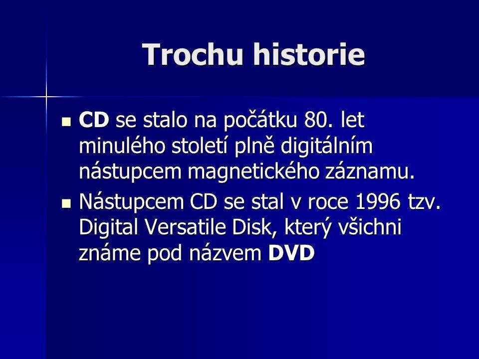 Trochu historie CD se stalo na počátku 80.