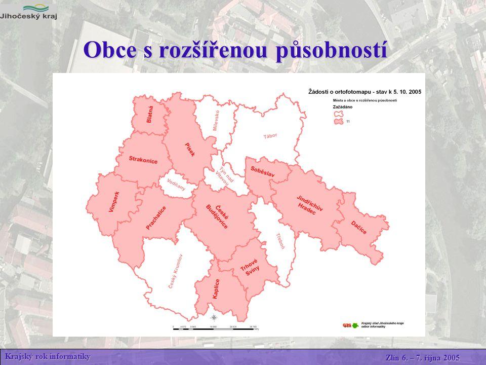 Přehled žádostí o ortofotomapu Krajský rok informatiky Zlín 6. – 7. října 2005 Odkaz mapa