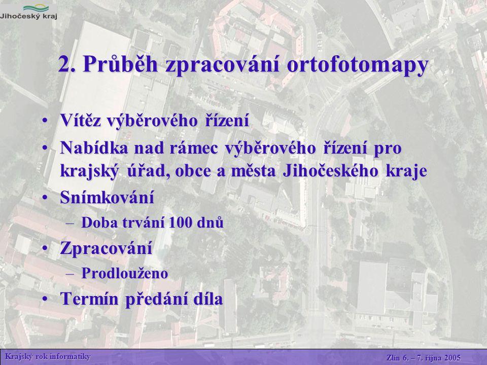 Využití ortofotomapy základní referenční podklad pro GIS Jihočeského kraje základní referenční podklad pro GIS Jihočeského kraje jako jedna z vrstev pro dodavatelsky zajišťované aplikace např.