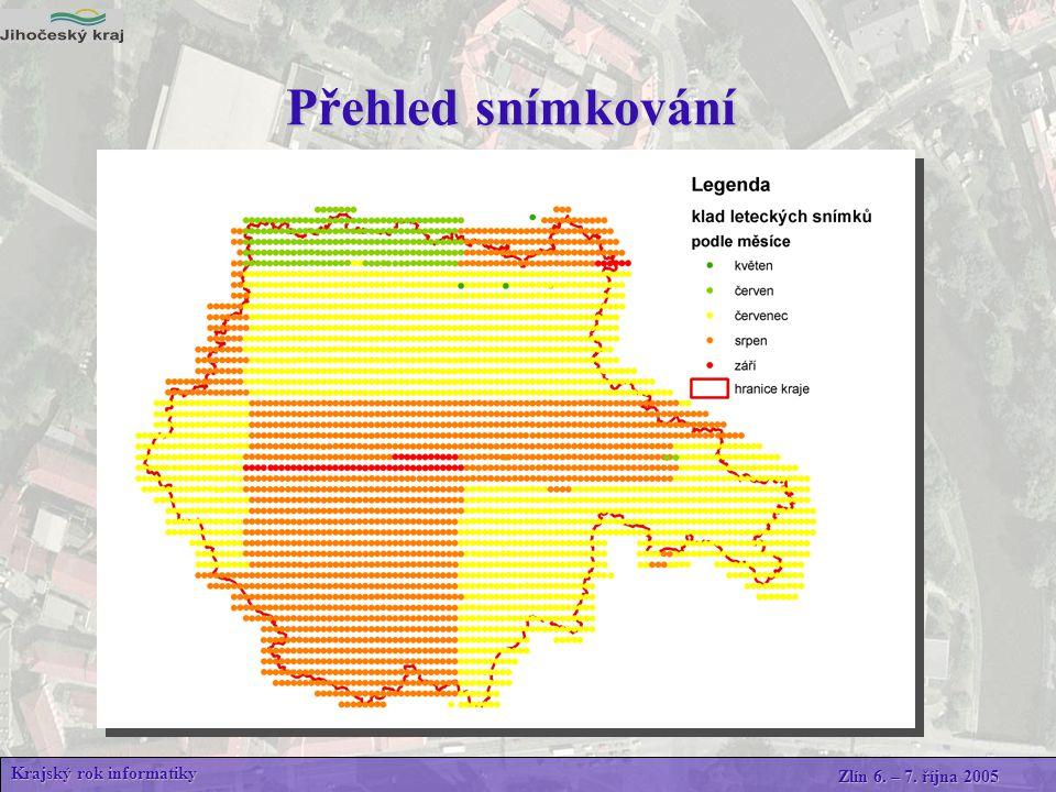 Krajský rok informatiky Zlín 6. – 7. října 2005 Přehled snímkování