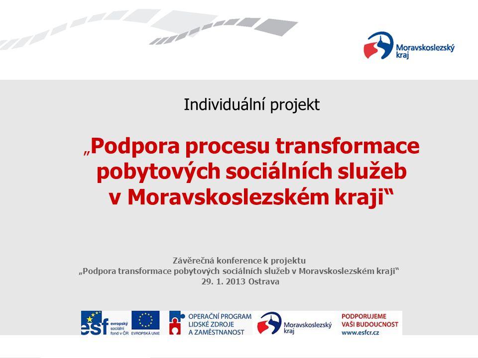 """Individuální projekt """" Podpora procesu transformace pobytových sociálních služeb v Moravskoslezském kraji"""" Závěrečná konference k projektu """"Podpora tr"""