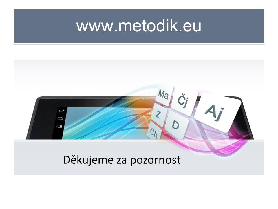 www.metodik.eu Děkujeme za pozornost