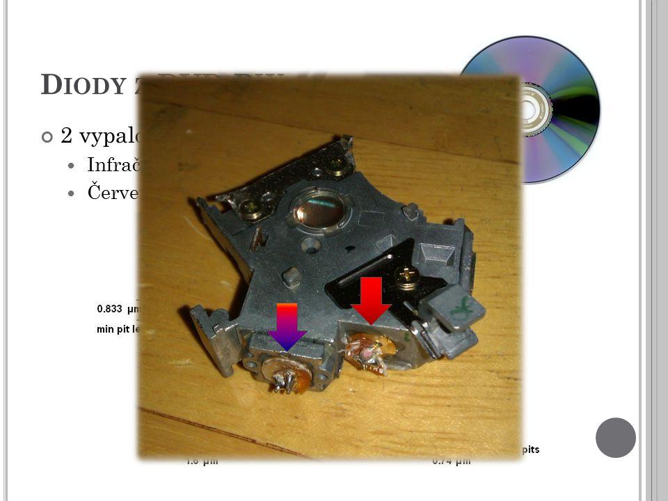 D IODY Z DVD-RW 2 vypalovací diody Infračervená Červená