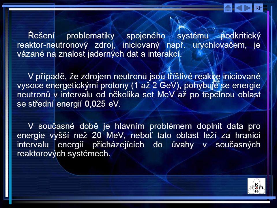 RF Řešení problematiky spojeného systému podkritický reaktor ‑ neutronový zdroj, iniciovaný např.