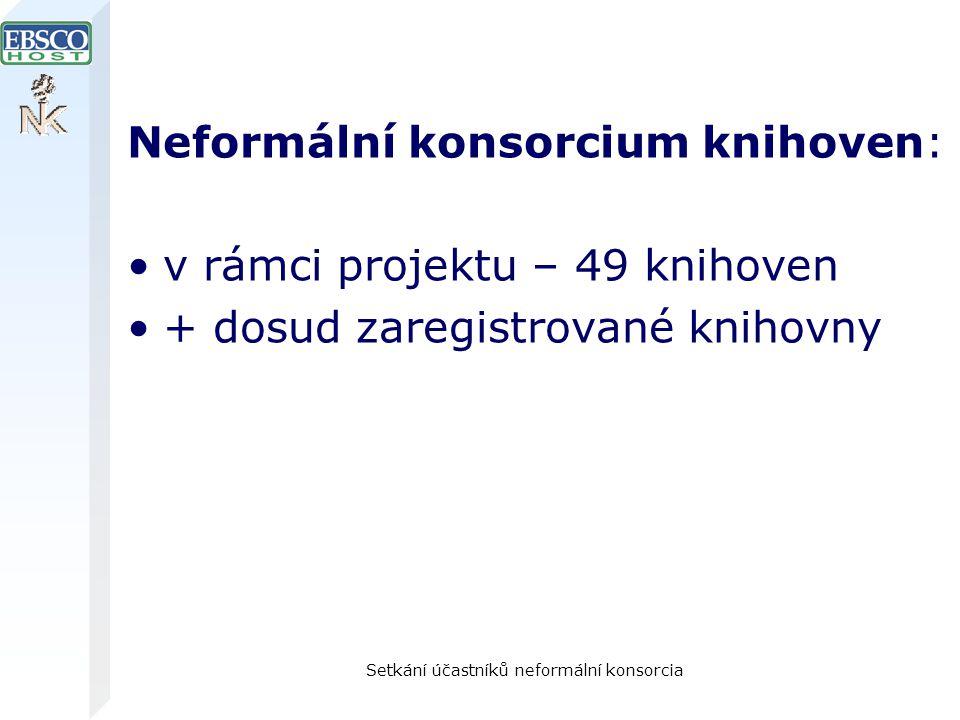Setkání účastníků neformální konsorcia Neformální konsorcium knihoven: v rámci projektu – 49 knihoven + dosud zaregistrované knihovny