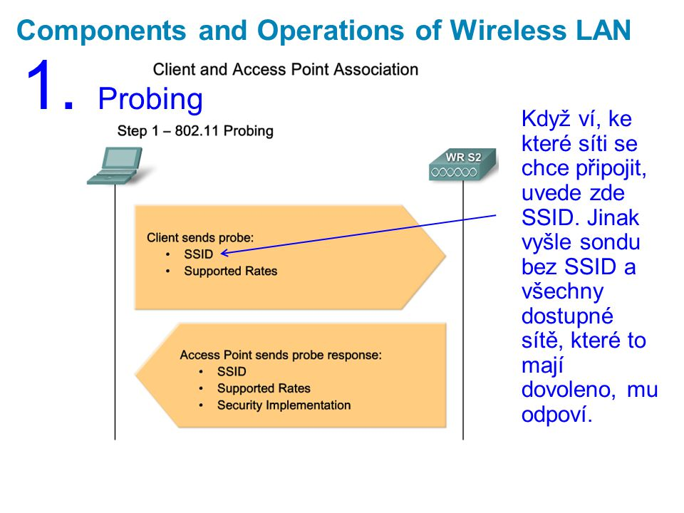 Components and Operations of Wireless LAN 1.