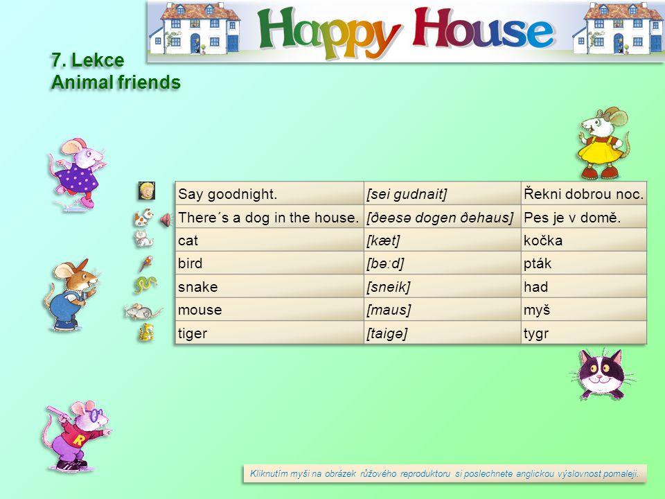 7.Lekce Animal friends 7.