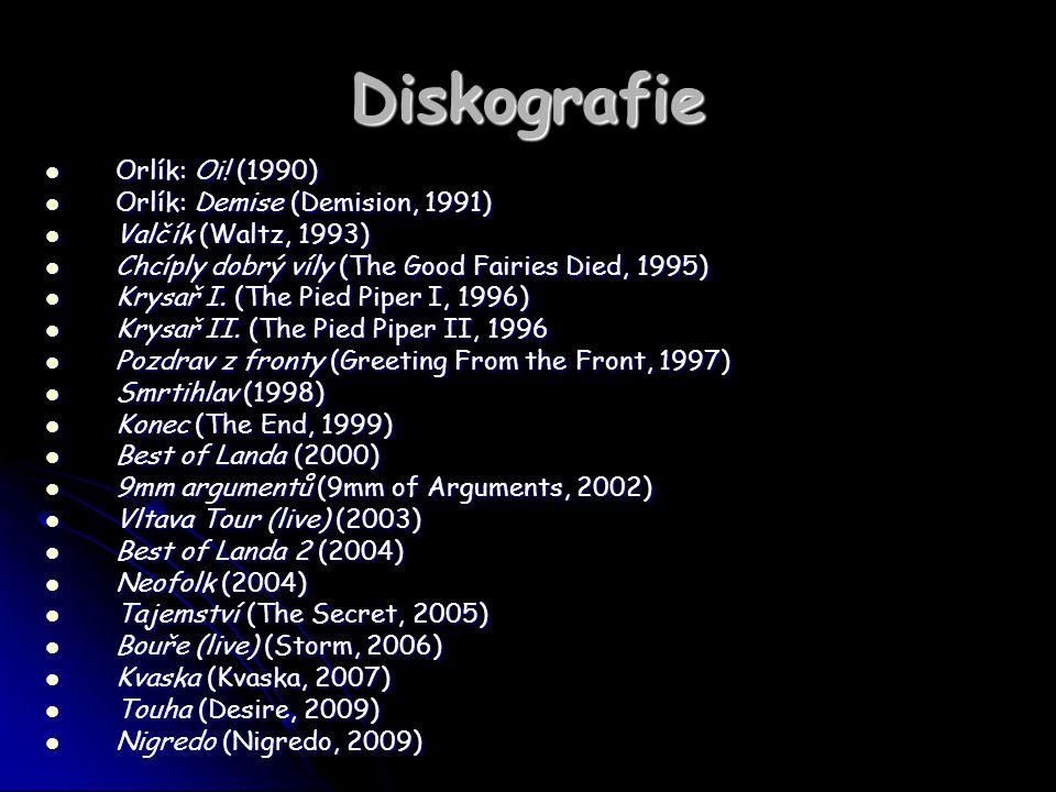 Diskografie Orlík: Oi! (1990) Orlík: Oi! (1990) Orlík: Demise (Demision, 1991) Orlík: Demise (Demision, 1991) Valčík (Waltz, 1993) Valčík (Waltz, 1993