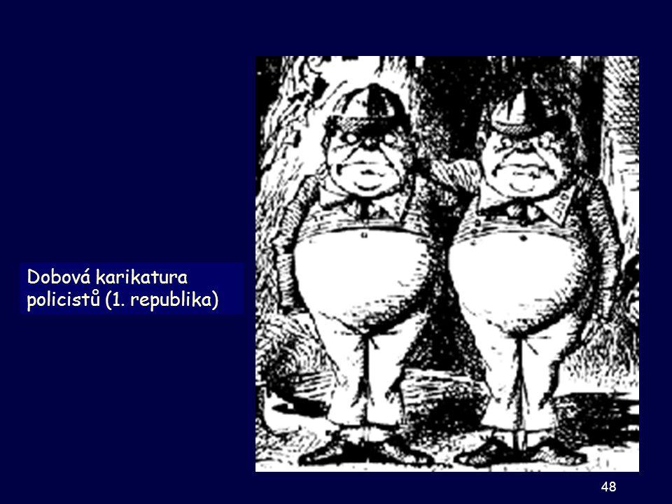 Dobová karikatura policistů (1. republika) 48