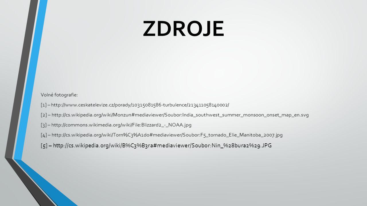 ZDROJE Volné fotografie: [1] – http://www.ceskatelevize.cz/porady/10315081586-turbulence/213411058140002/ [2] – http://cs.wikipedia.org/wiki/Monzun#me