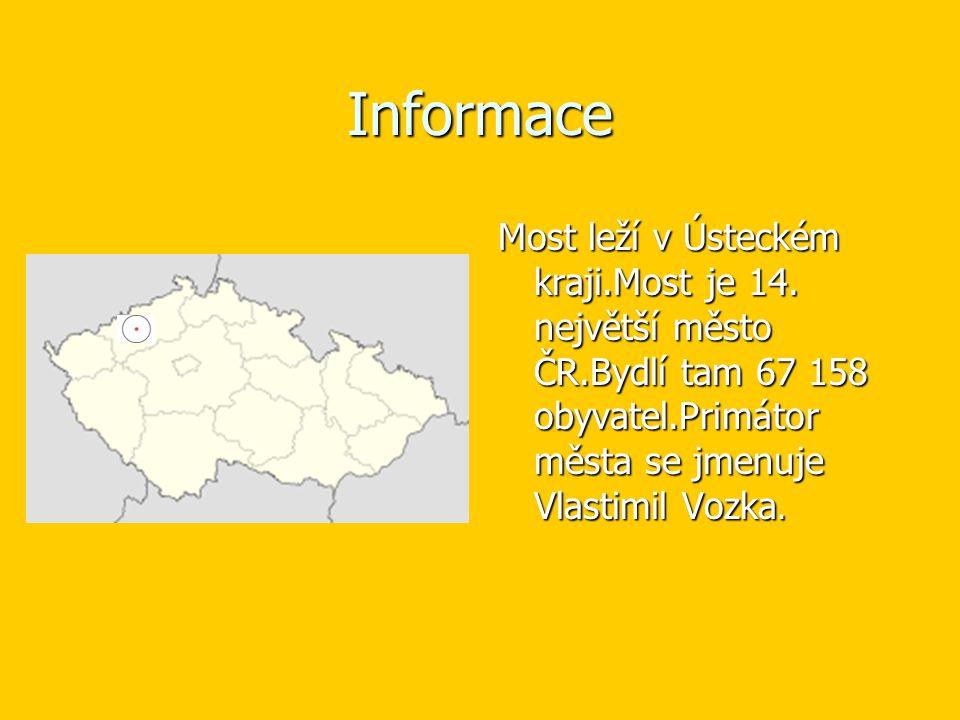Informace Most leží v Ústeckém kraji.Most je 14.