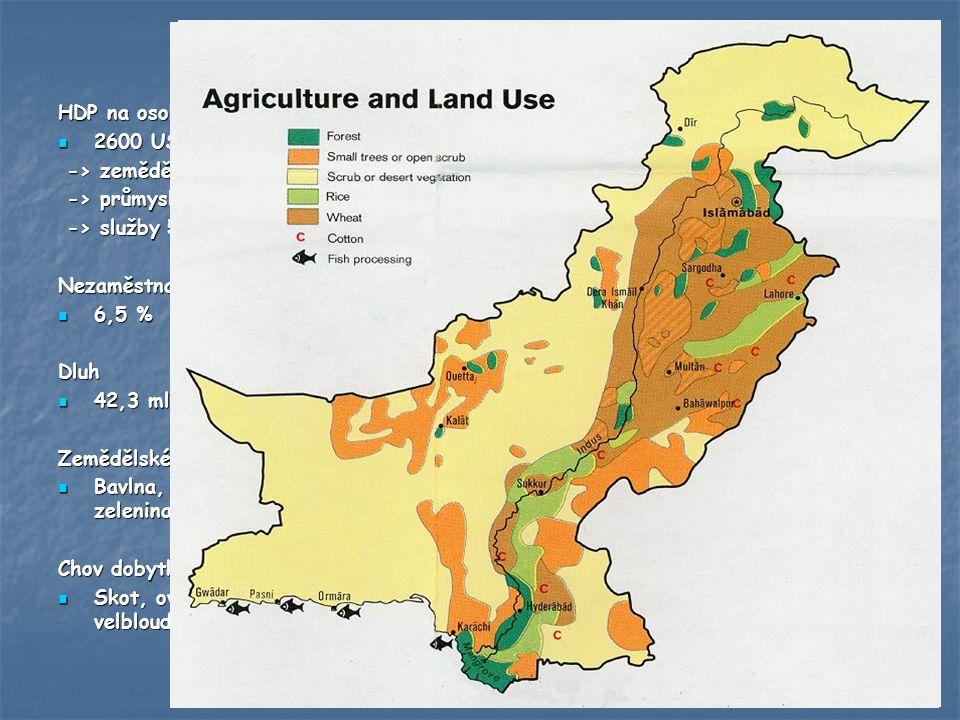 Hospodářství HDP na osobu 2600 USD 2600 USD -> zemědělství 22% -> zemědělství 22% -> průmysl 24% -> průmysl 24% -> služby 52% -> služby 52%Nezaměstnan