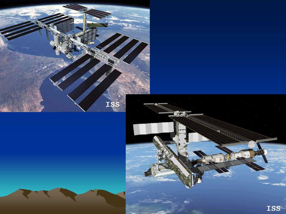 ISS? ISS!! ISS je mezinárodní kosmická stanice, která obíhá kolem země od roku 1998. Její stavba začala spojením Amerického Unity (vpravo) a ruské Zar