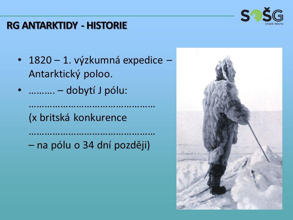 1820 – 1. výzkumná expedice – Antarktický poloo. ……….