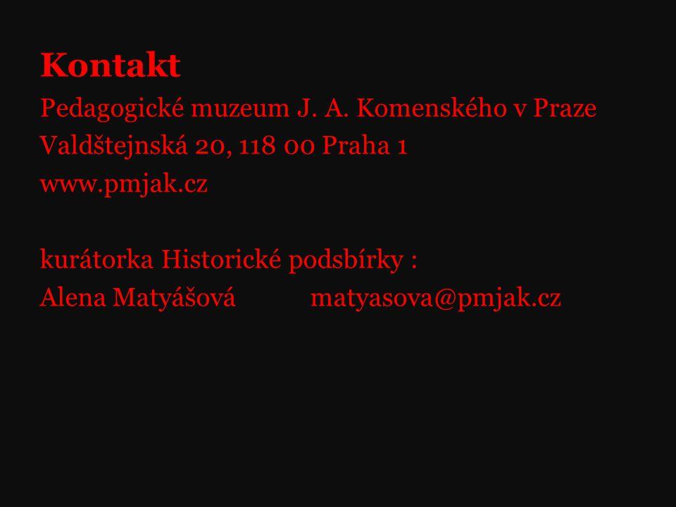 Kontakt Pedagogické muzeum J.A.
