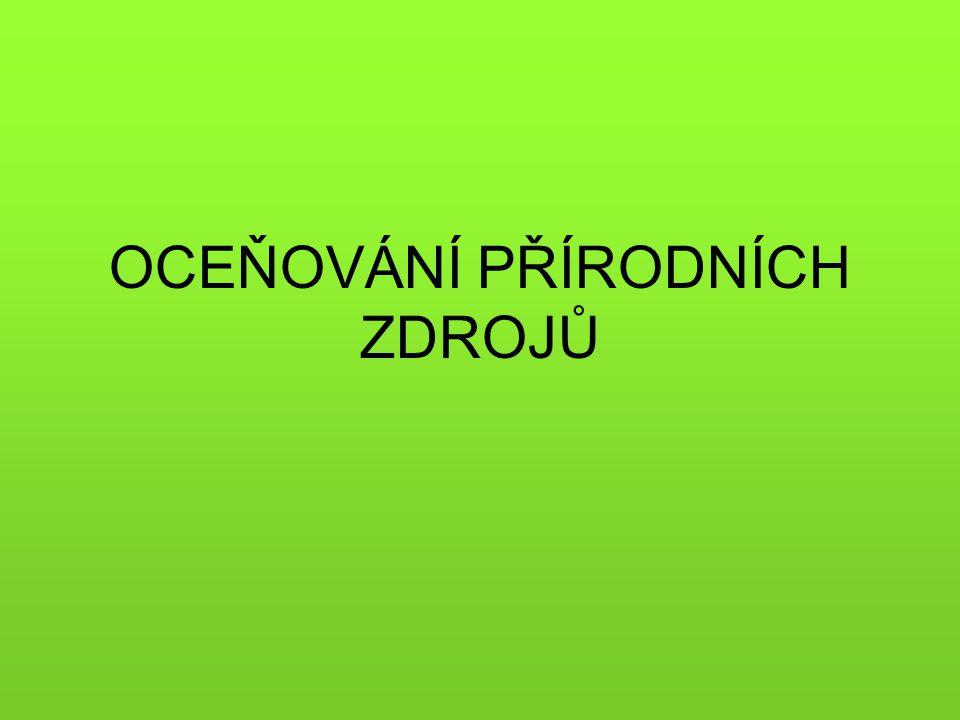 Ekonomie životního prostředí – environmentální ekonomie (EŽP-1) samostatná disciplina v 70.
