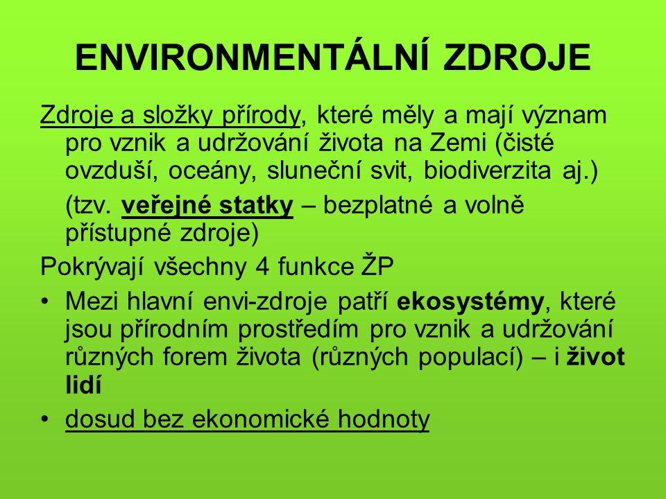 FUNKCE LESA Produkční funkce lesa (komerční, tržní) Ostatní funkce se podle různých autorů označují jako funkce: neprodukční všeužitečné nehmotné environmentální nedřevní životadárné netržní životazáchovné mimoekonomické blahodárné mimoprodukční ekologické veřejněprospěšné sociální celospolečenské přirozené pozitivní externality Mimoprodukční funkce lesa  celospolečenské funkce lesa (nejsou to synonyma) Veřejný zájem nemusí být vždy zájmem celé společnosti !!!