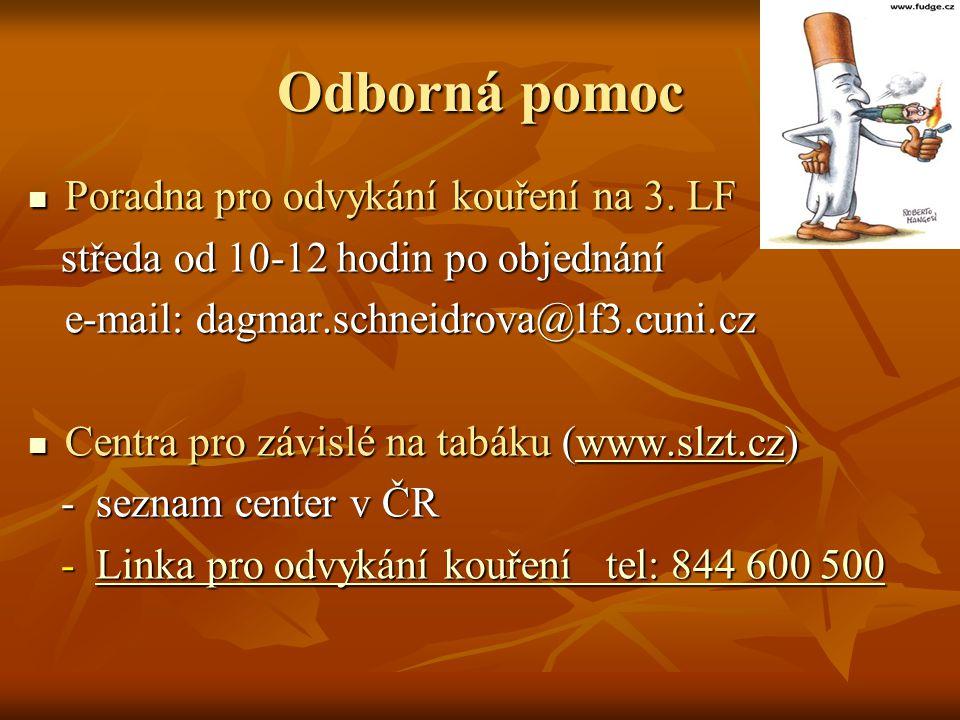Odborná pomoc Poradna pro odvykání kouření na 3.LF Poradna pro odvykání kouření na 3.