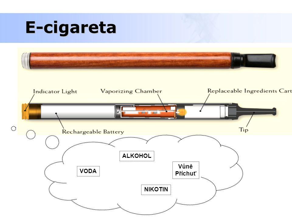 """Vlastnosti E-cigarety Zachovává """"pocit cigarety a eliminuje její negativní účinkyZachovává """"pocit cigarety a eliminuje její negativní účinky Prakticky bez zápachuPrakticky bez zápachu Nezpůsobuje pasivní kouření lidí v okolíNezpůsobuje pasivní kouření lidí v okolí Uspokojuje touhu po nikotinuUspokojuje touhu po nikotinu Jednoduché použitíJednoduché použití Zdravější alternativa"""