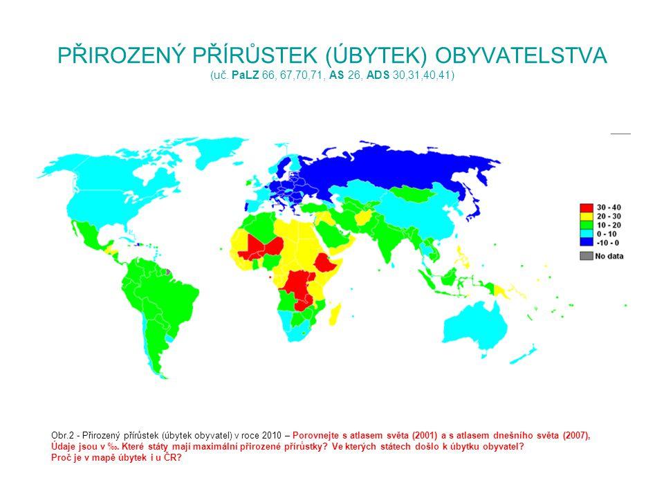PŘIROZENÝ PŘÍRŮSTEK (ÚBYTEK) OBYVATELSTVA (uč. PaLZ 66, 67,70,71, AS 26, ADS 30,31,40,41) Obr.2 - Přirozený přírůstek (úbytek obyvatel) v roce 2010 –