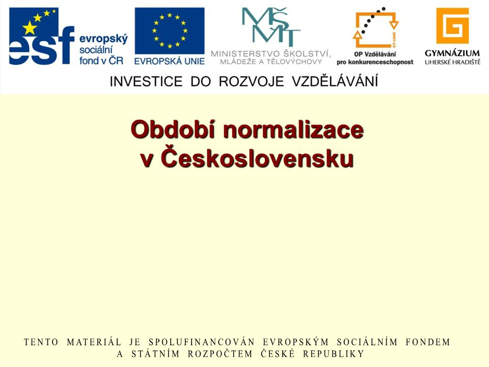 Období normalizace v Československu