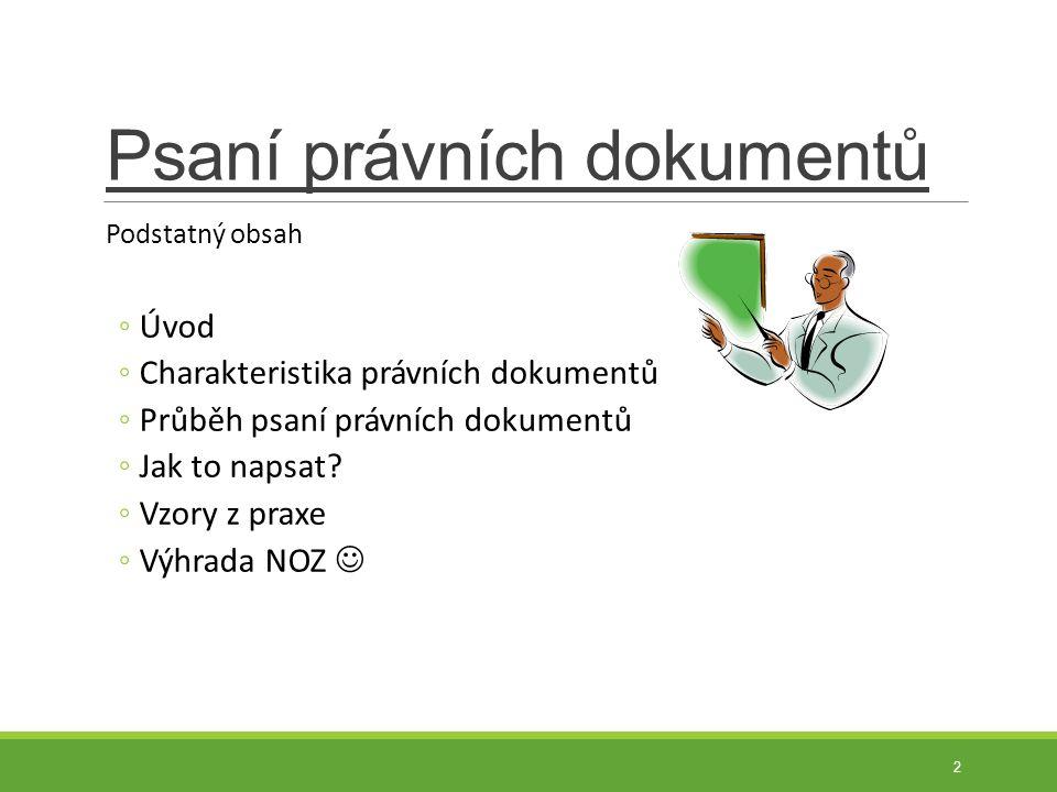 Nájemní smlouva Název Pronajímatel a nájemce – identifikace Předmět smlouvy ◦specifikace nemovitosti - bytová jednotka č.