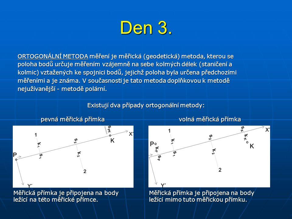 ORTOGONÁLNÍ METODA měření je měřická (geodetická) metoda, kterou se poloha bodů určuje měřením vzájemně na sebe kolmých délek (staničení a kolmic) vzt
