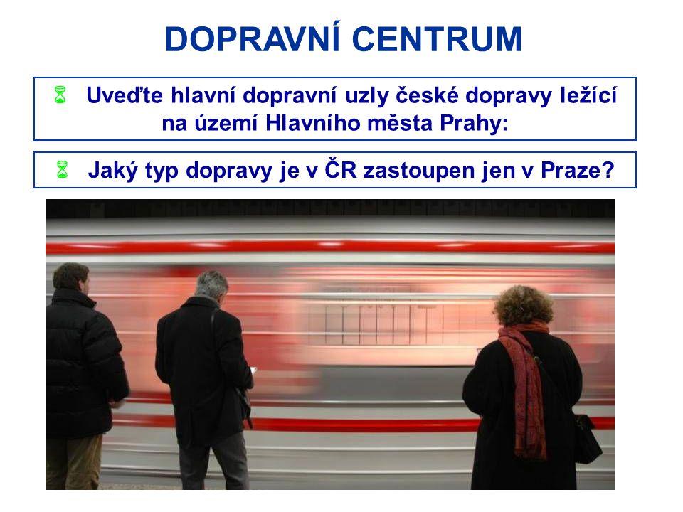 TURISTICKÉ CENTRUM  V jakém pořadí navštíví turista následující pamětihodnosti, pokud půjde pěšky z Náměstí Republiky na Hradčany po tzv.