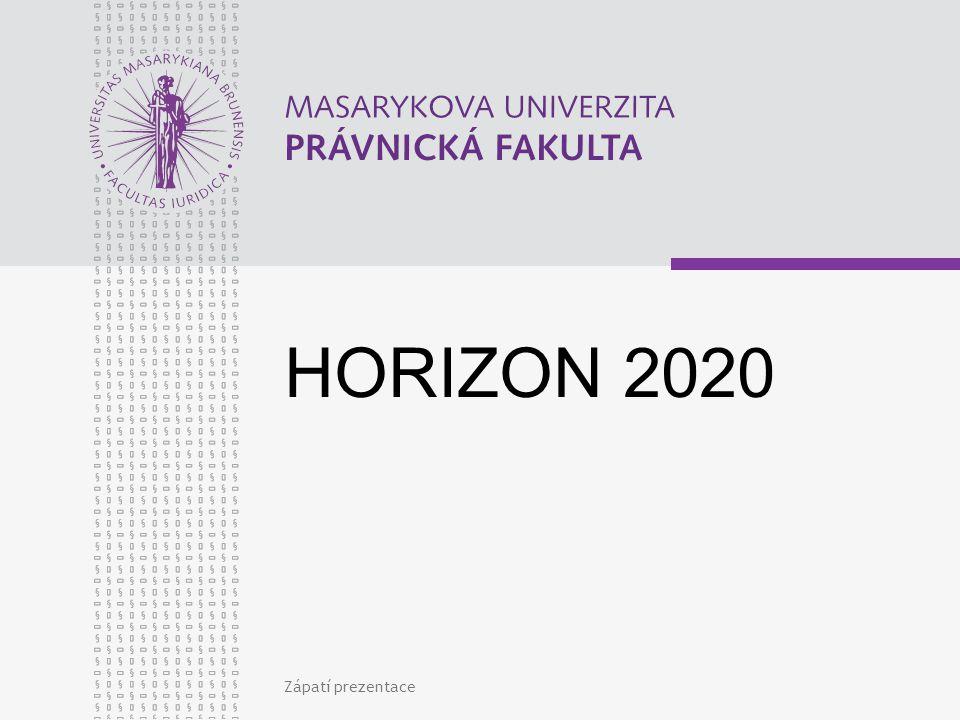 Zápatí prezentace HORIZON 2020
