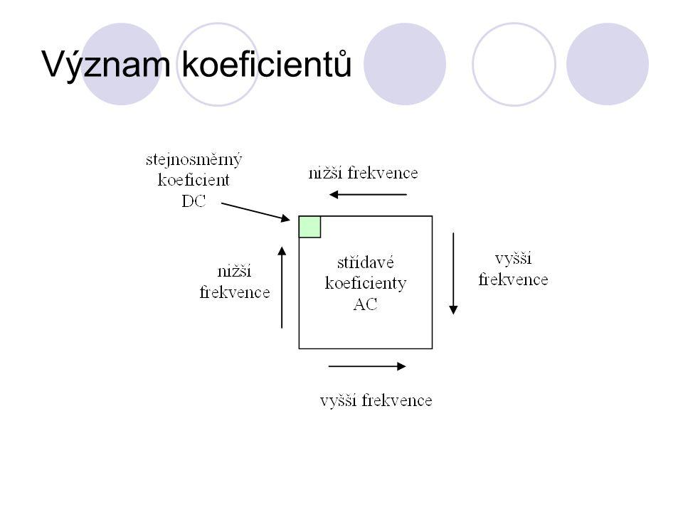 Význam koeficientů