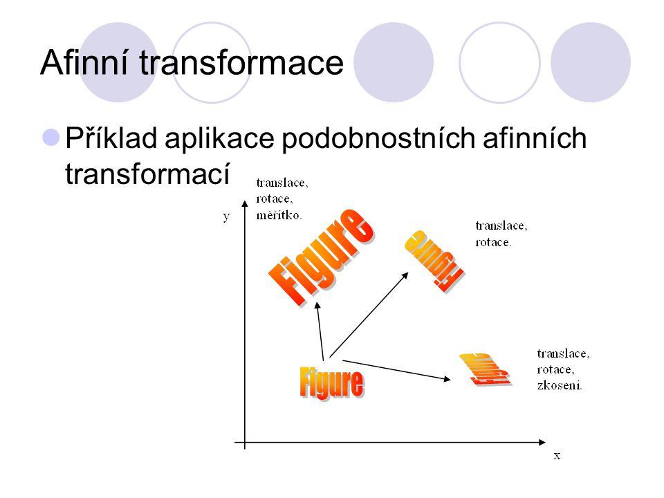 Afinní transformace Příklad aplikace podobnostních afinních transformací