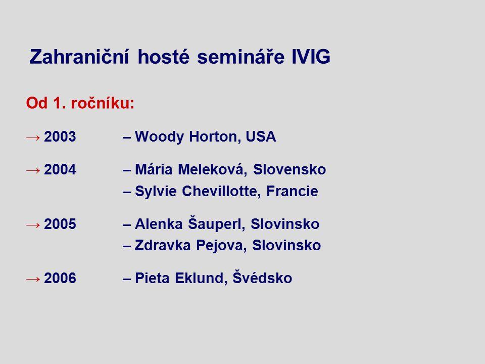 Zahraniční hosté semináře IVIG Od 1.