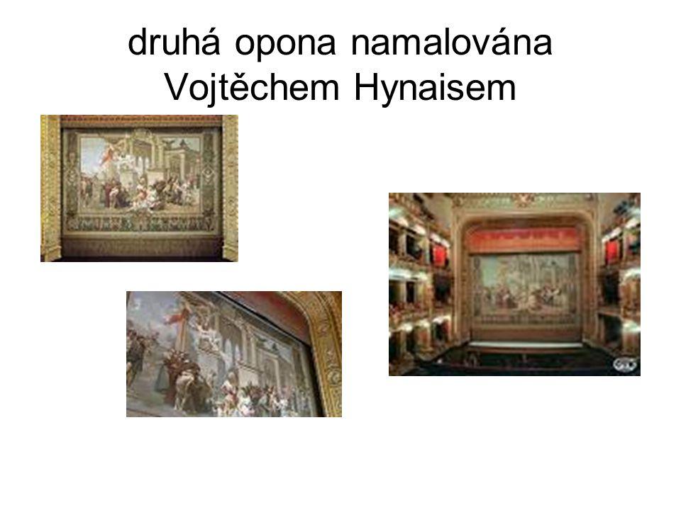 druhá opona namalována Vojtěchem Hynaisem