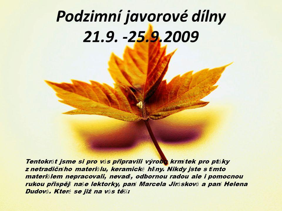 Jarní Javorové dílny 30.3.