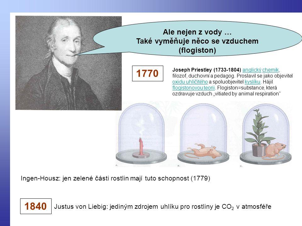Joseph Priestley (1733-1804) anglický chemik, filozof, duchovní a pedagog.