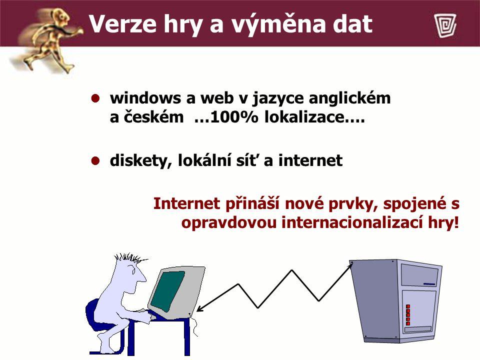 Verze hry a výměna dat windows a web v jazyce anglickém a českém …100% lokalizace….