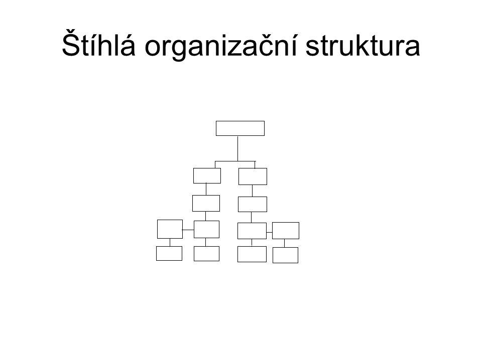Zavádění změn organizačního uspořádání Překotné budování divizionální struktury však nebývá úspěšné Administrativnímu aktu vytvoření divizí musí předcházet důkladný výcvik pracovníků Moderním řešením je zavedení maticové organizační struktury, které však nesmí proběhnout jednorázově