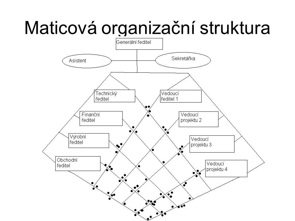 Lidé v organizační struktuře Formální organizace Neformální organizace