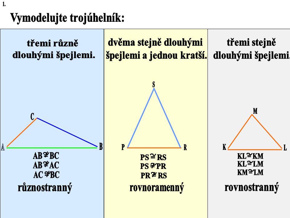 3. Třídění trojúhelníků podle stran