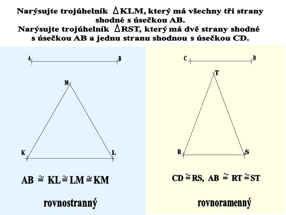 Třídění trojúhelníků podle stran