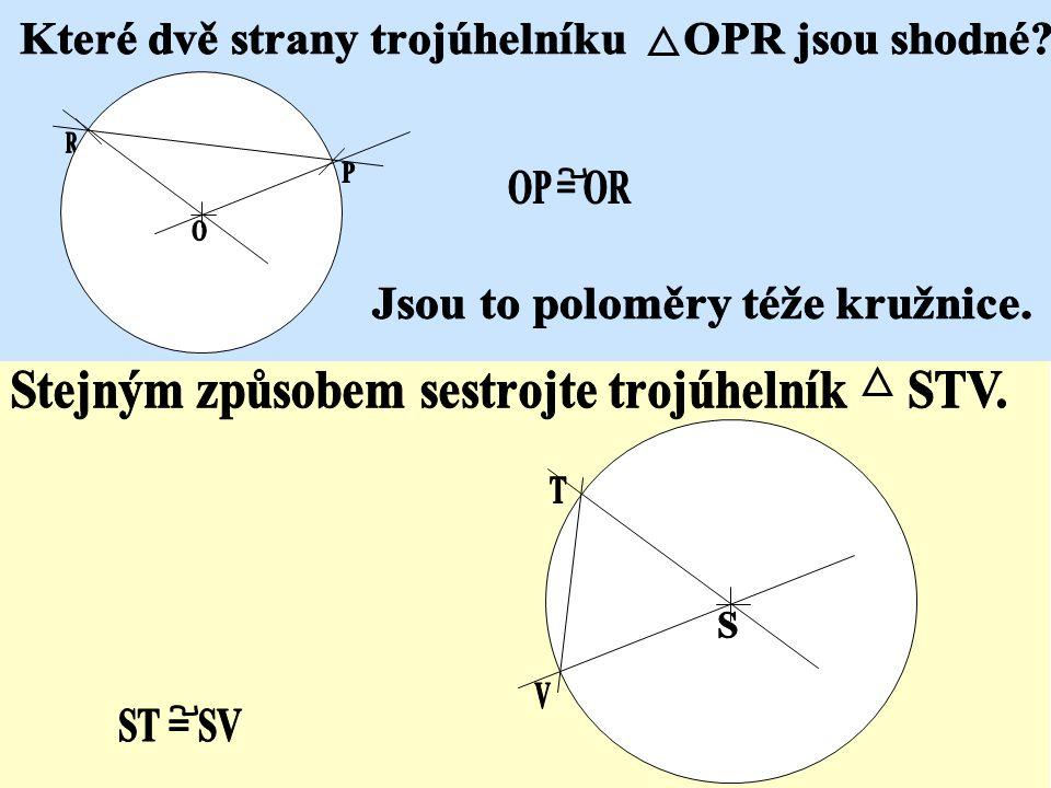 Poloměr kružnice stranou trojúhelníku