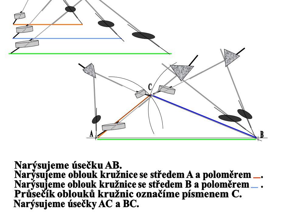 Konstrukce trojúhelníku z daných str.