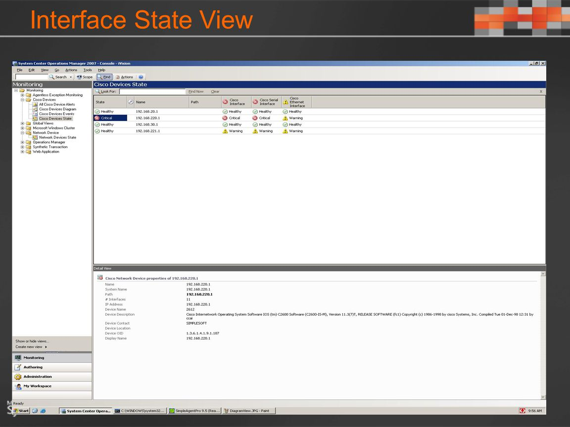 Interface State View