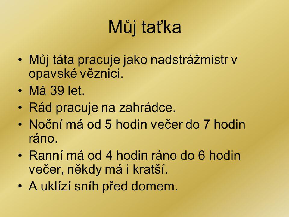 Max Mamka Iveta Babička Edita Děda Max Taťka Roman Babička Vlasta Děda Jiří